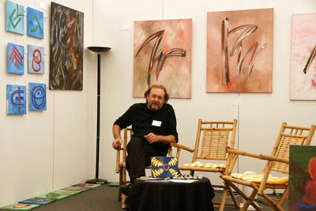 Peter Friedmann an seinem Stand auf der RLA 2008